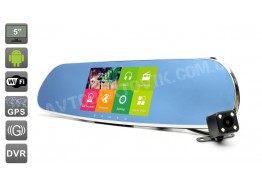 Видеорегистратор-зеркало Car Mirror Q7 Chrome
