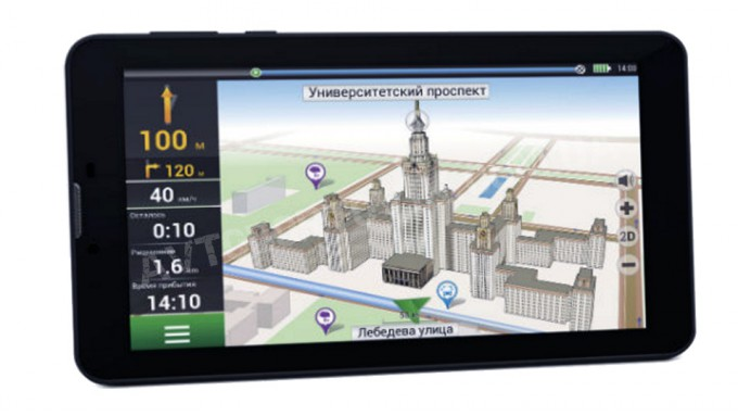 GPS навигатор NAVITEL A735 Android 5.1