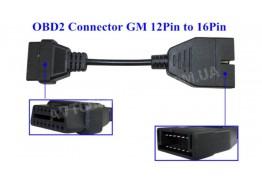 Переходник GM12 на OBD2 (ВАЗ, Daewoo)