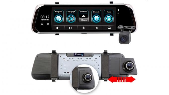 Зеркало-видеорегистратор Phisung E08 4G